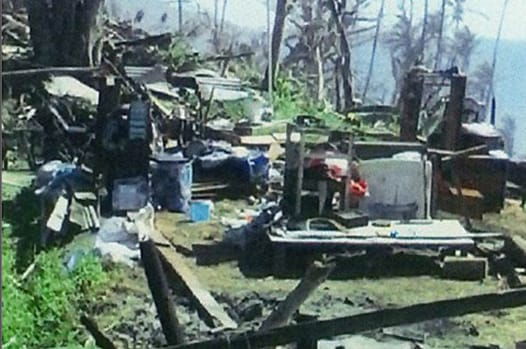 Disaster scene in the Fiji Islands