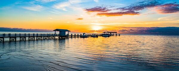 Sunrise in Florida Keys.