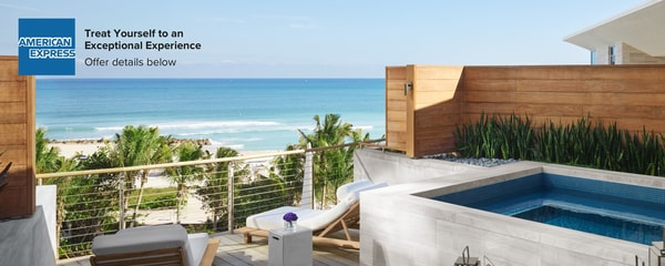 American Express - Treat Yourself to an Exceptional Experience.  Offer details below.