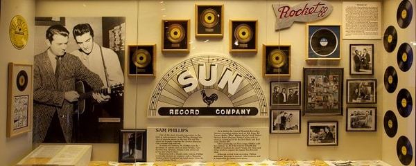 Music Hall of Fame display in Muscle Shoals, Alabama.