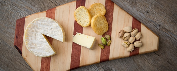Baltimore's homegrown goods served on a cheese board.