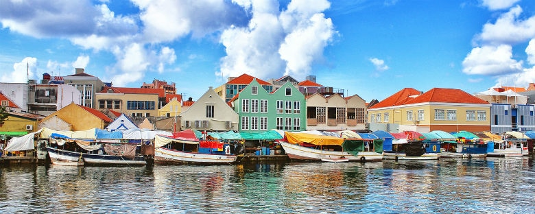 Boats on the water in Curacao.