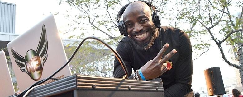 A DJ plays his music in Johannesburg at Sounds of Africa.