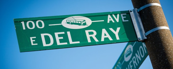 A street sign for Delray in Alexandria, Virginia.