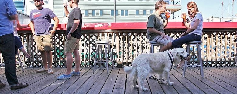 A dog-friendly restaurant in Portland.