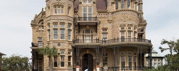 The historic Gresham Castle in Galveston, near Houston.
