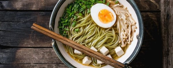 A bowl of ramen served with egg in Philadelphia.