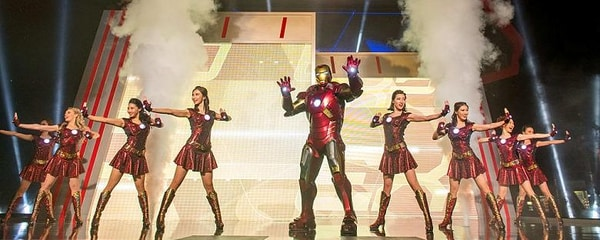 Iron Man performance at Hong Kong's Disneyland.