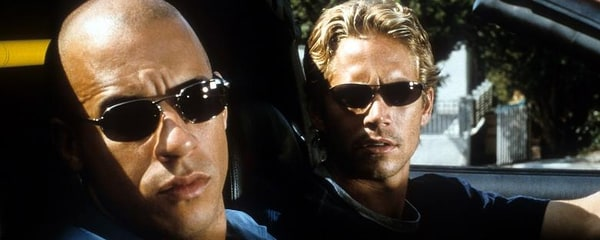 Paul Walker and Vine Diesel in Fast and the Furious movie filmed in Los Angeles.