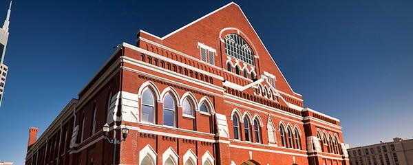 Ryman Auditorium in Nashville, Tennessee.