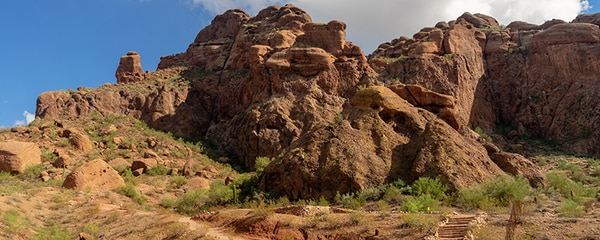 Hiking trail on Camelback Mountain in Phoenix, Arizona.