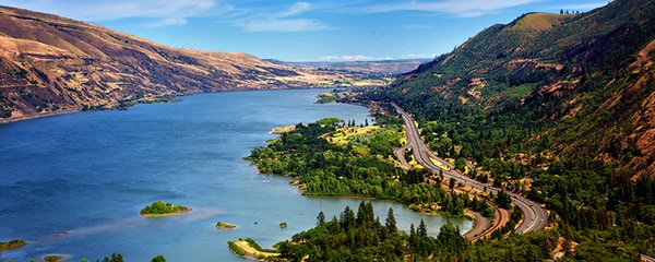 A view of Columbia River George from the Rowena Crest overlook.