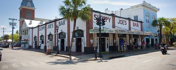 Key West's famous bar, Sloppy Joe's.