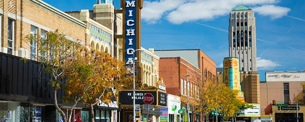 A day trip in downtown Ann Arbor.