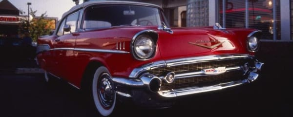 Classic Chevrolet convertible, one of the iconic cars manufactured in Detroit, the Motor City