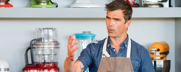 A well-known chef, Hugh Acheson from Athens, Georgia.