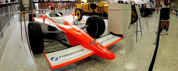 Formula-1 race cars on display at Indianapolis Motor Speedway Museum