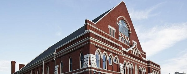 The historic Ryman Auditorium, music venue and home to the Grand Ole Opry, in Nashville, Tennessee
