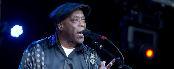 Music legend Buddy Guy performs for fans at a blues music festival in Orlando, Florida