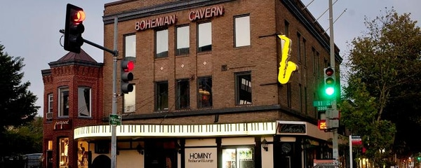 "Bohemian Cavern in Washington, DC decades after being featured in ""Green Book"" travel guide"