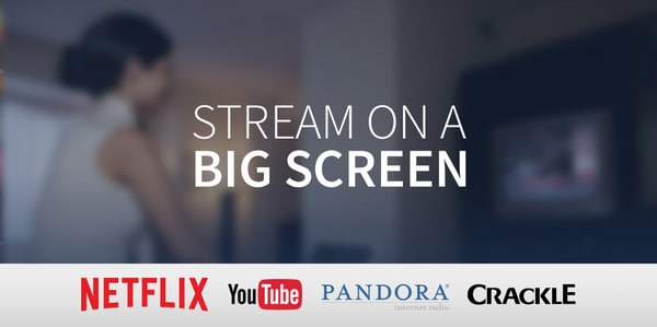 Stream Netflix and other services on your in-room TV