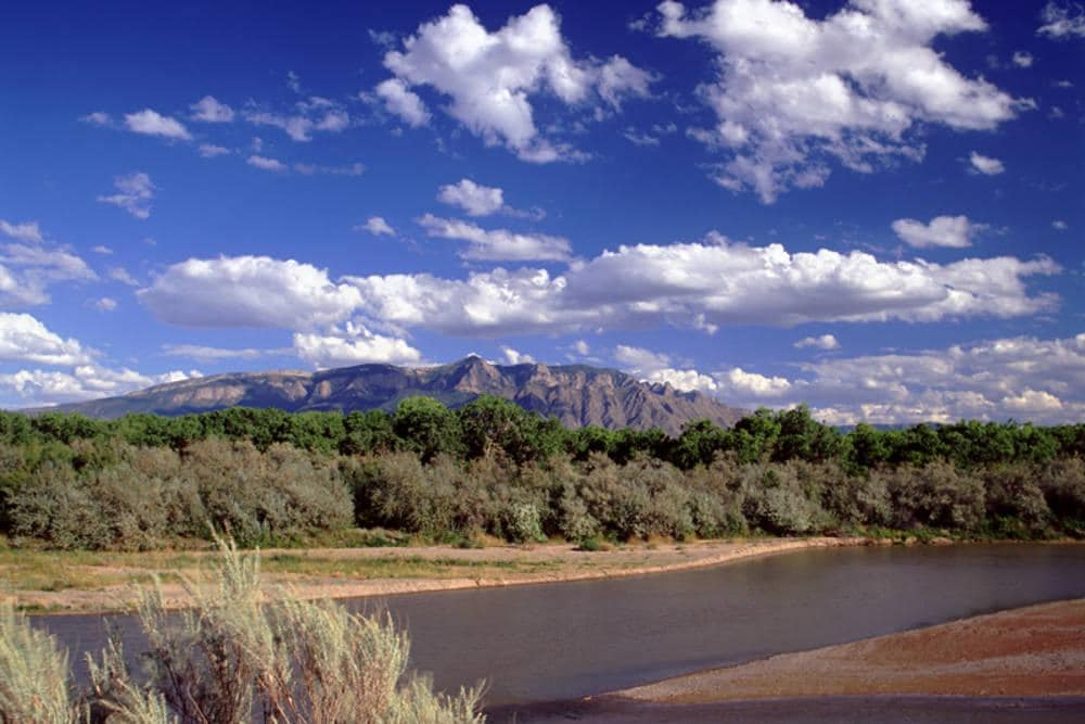 Sandia Mountain & Rio Grande River