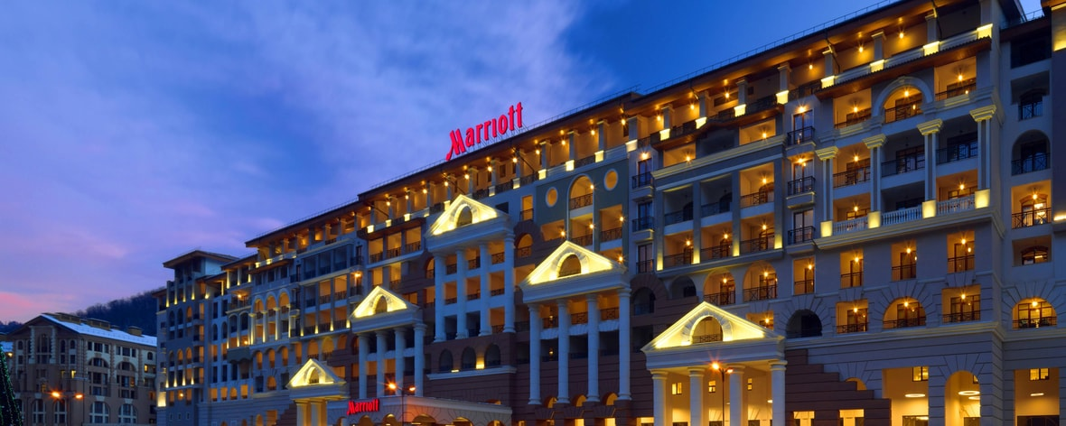 Sochi Marriott Krasnaya Polyana. Night View
