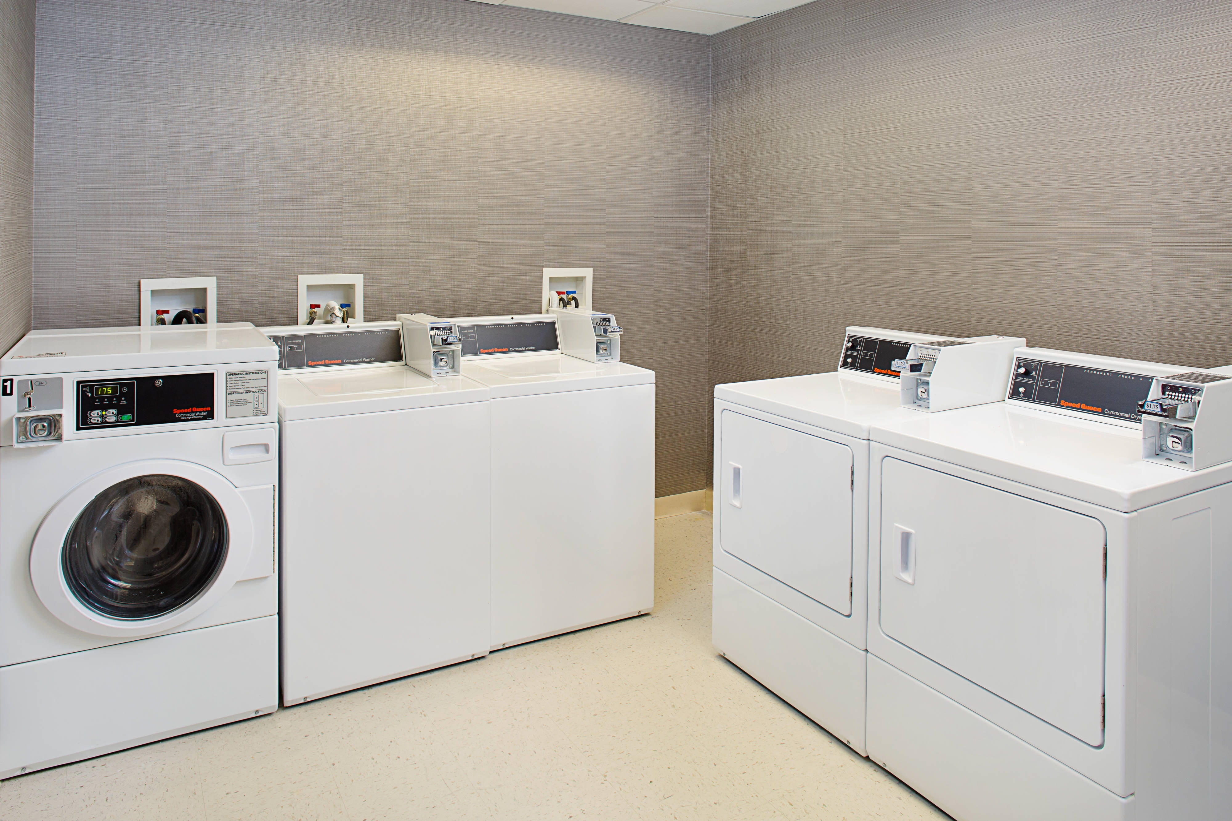 Coin Operated Laundry for guest use