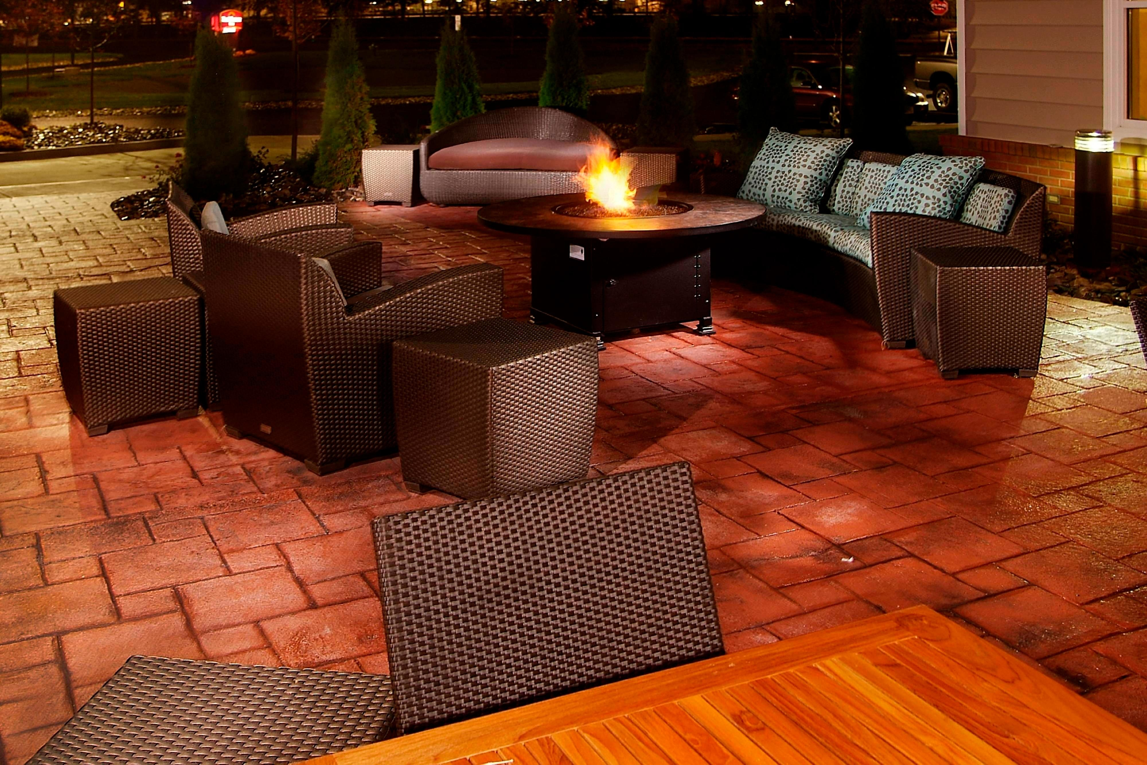 Residence Inn Albany Patio Fireplace