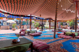Beach Cafewith its Bedouin Tent