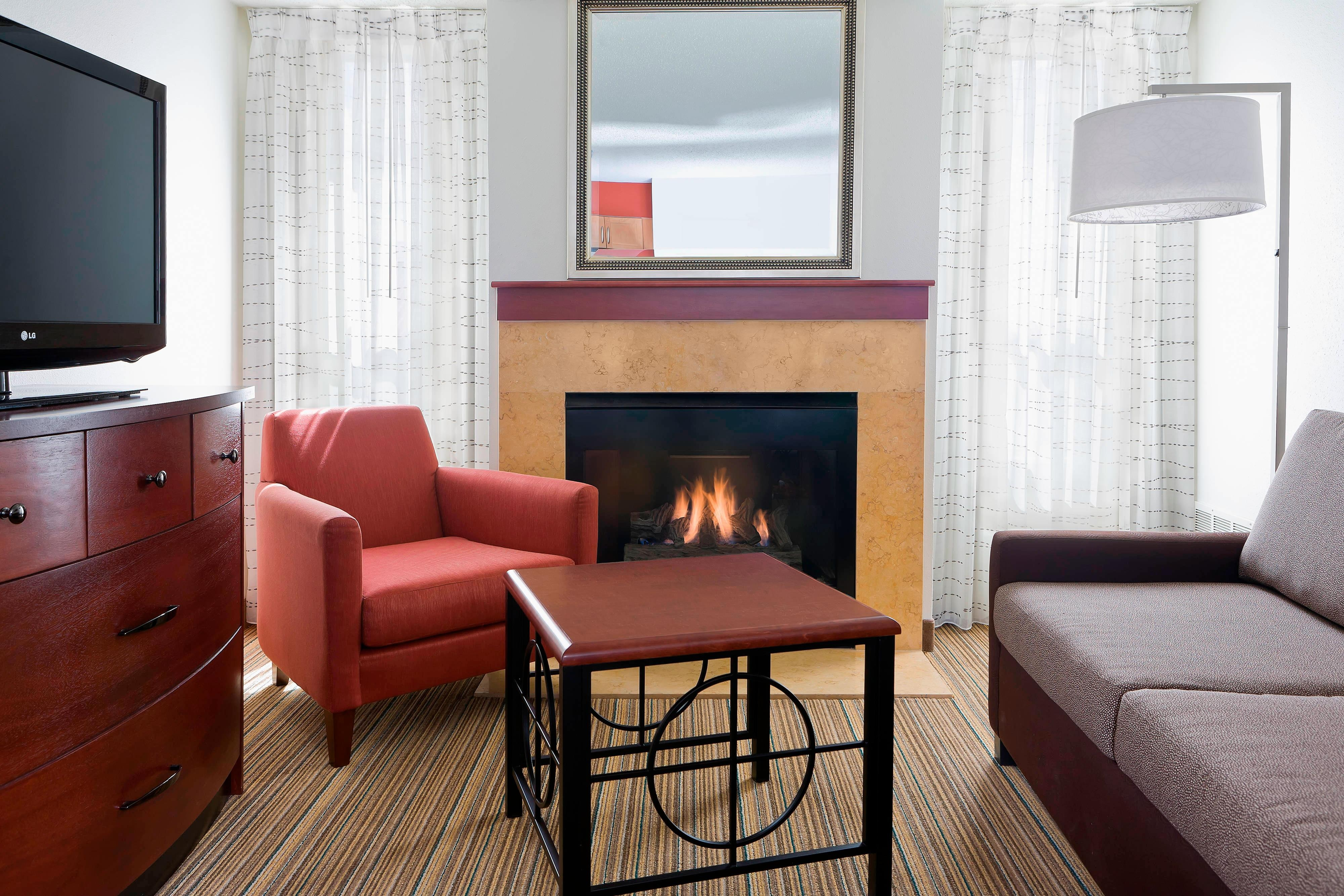 Two-Bedroom Living Area Fireplace