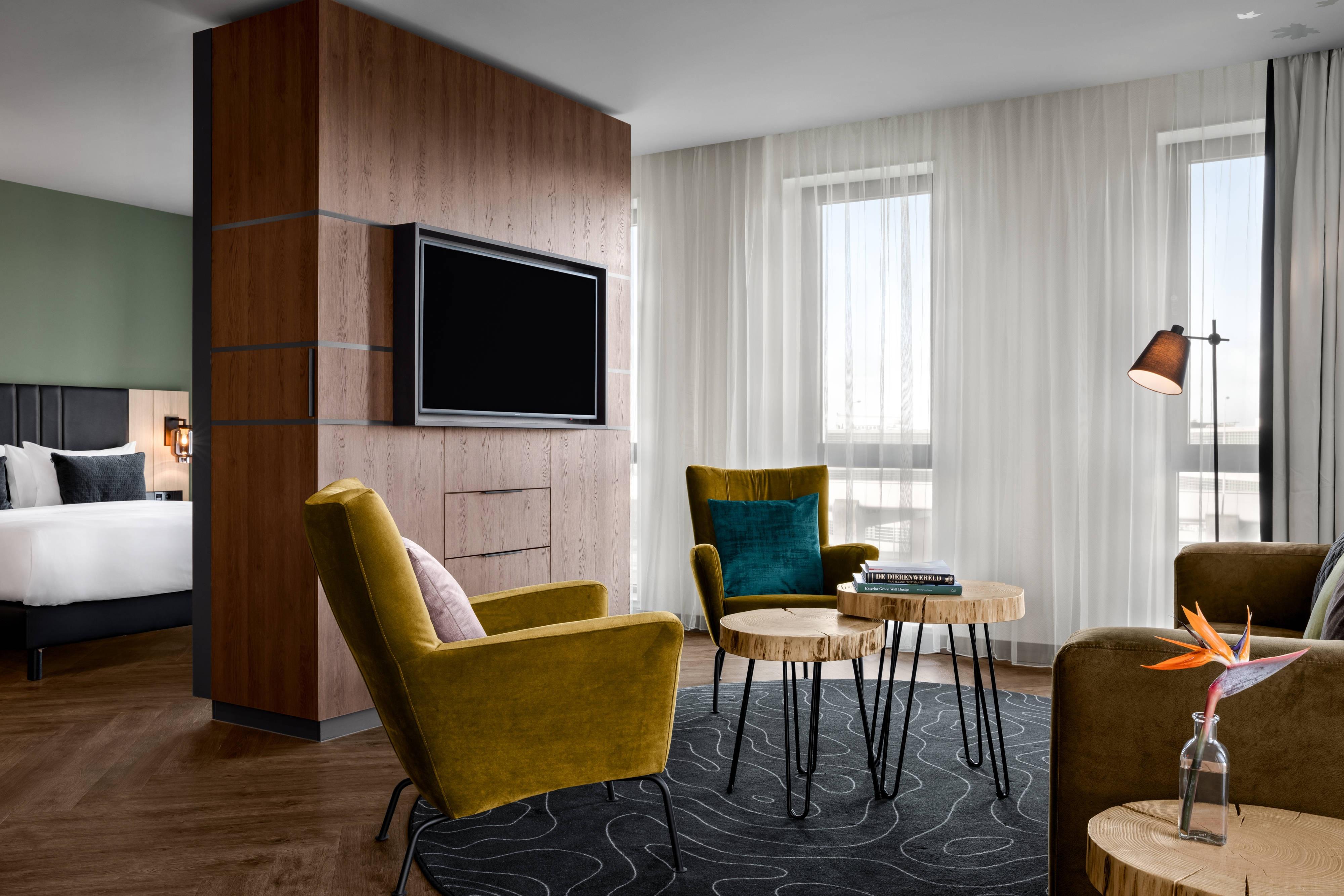 Suite, espace salon