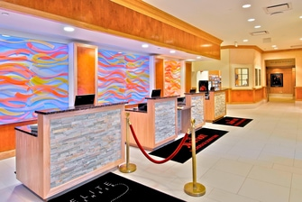 Downtown Anchorage hotel lobby