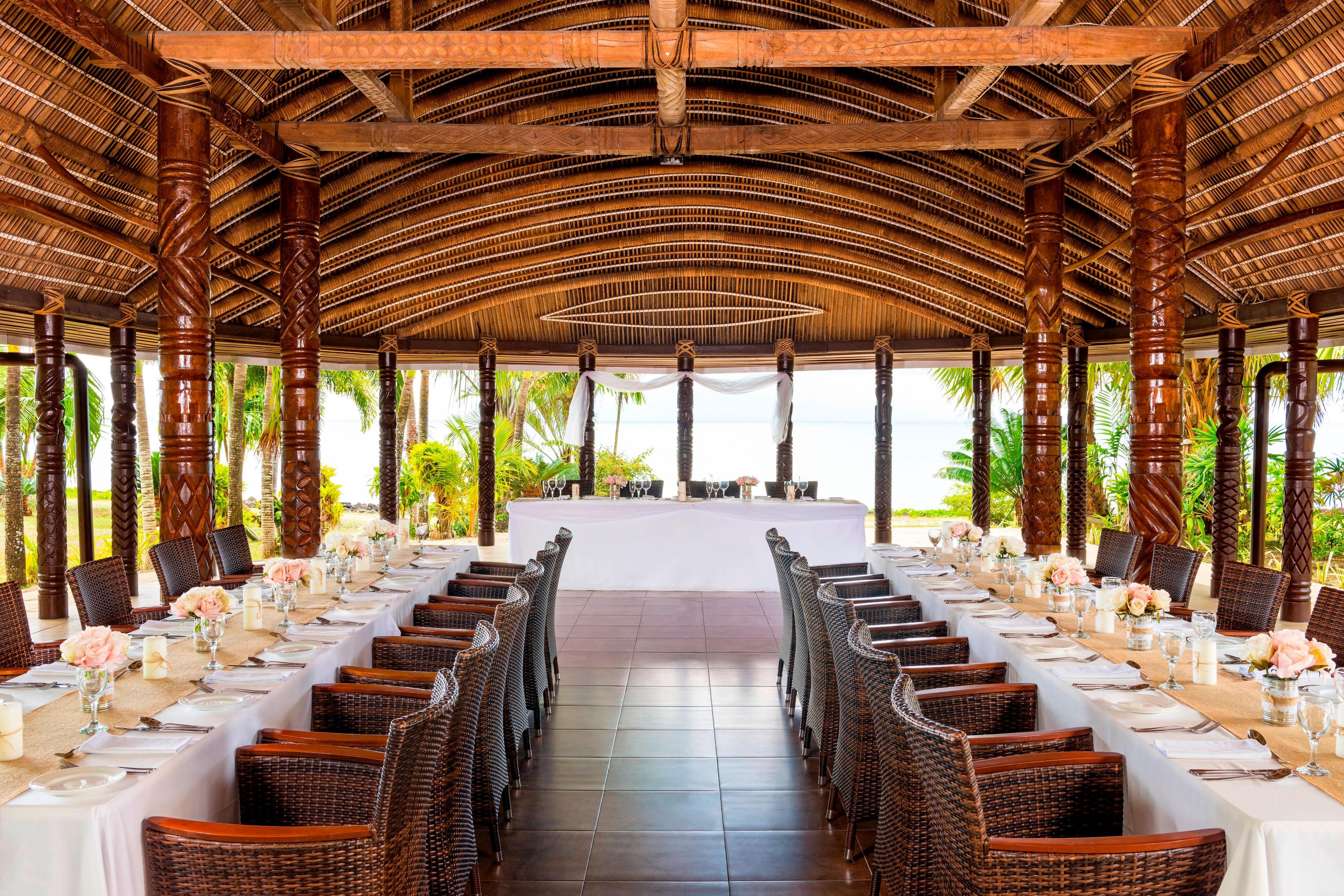 Apolima Fale Restaurant Wedding Reception