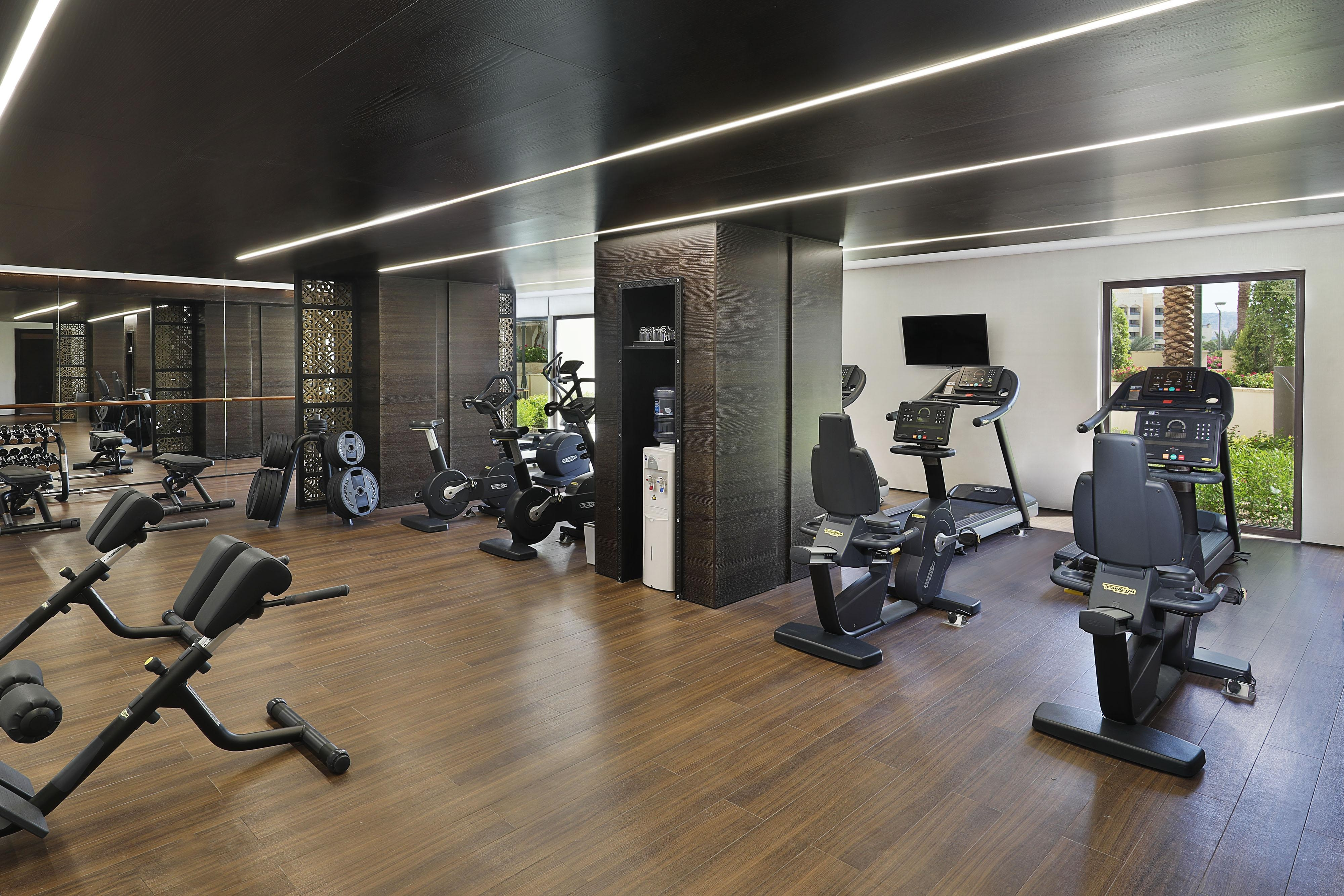 Our state-of-the-art fitness center is open 24 hours with showers and changing facilities.