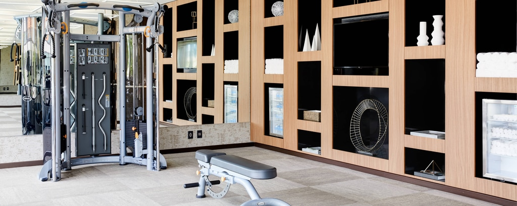 Hotel gym and fitness facilities at AC Hotel