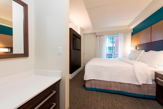 Marriott Residence Inn suite, Ann Arbor Michigan hotel