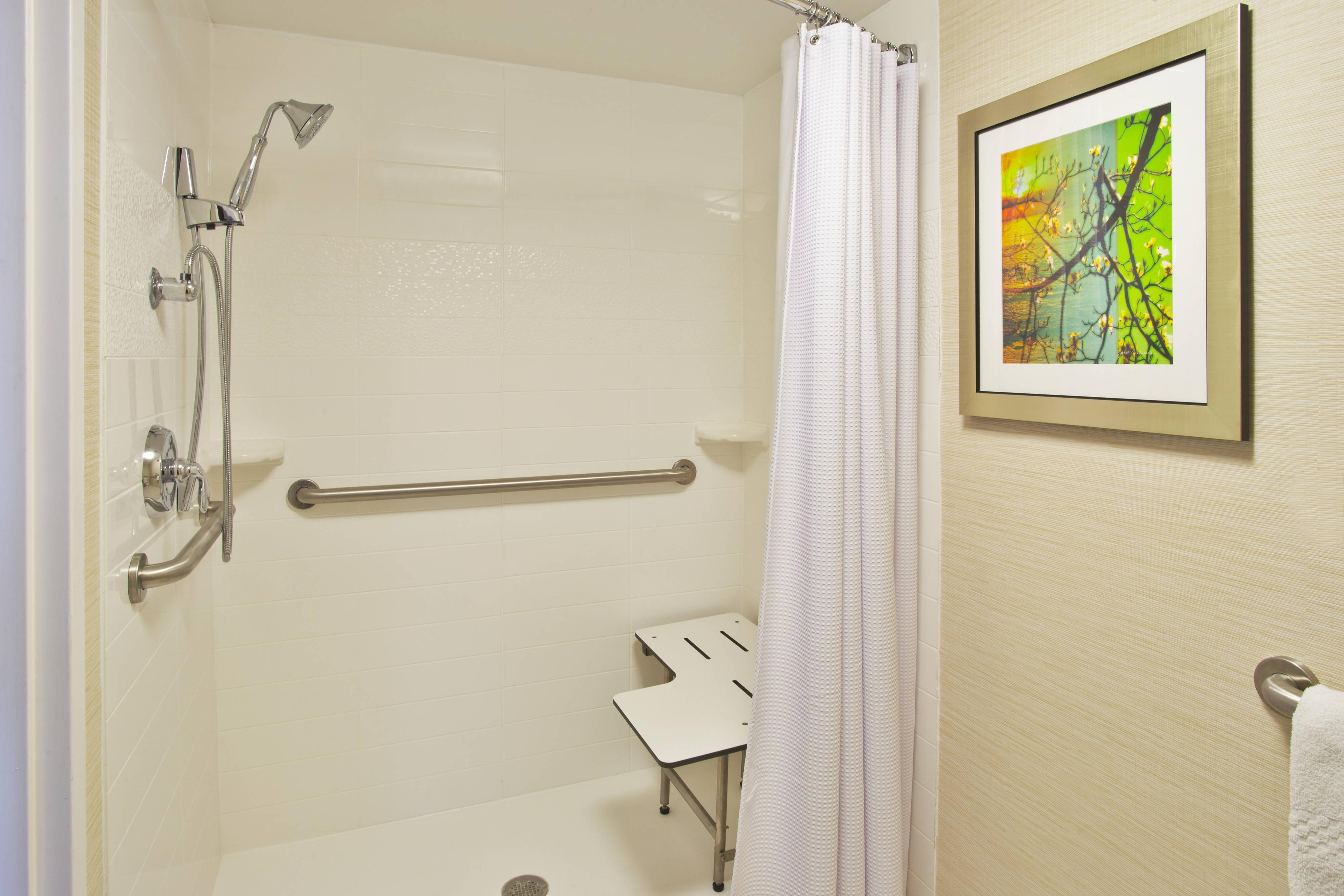 Roll-in Accessible Shower and Bathroom