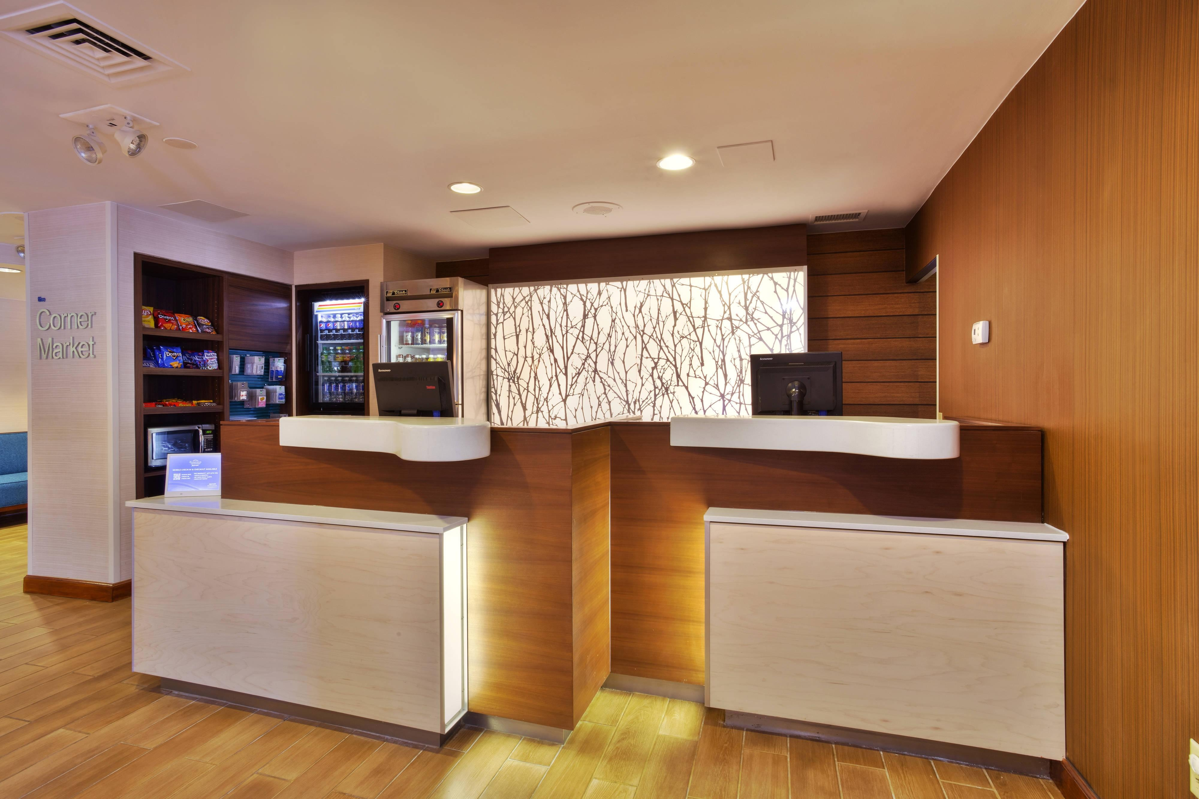 Front Desk and Reception Area