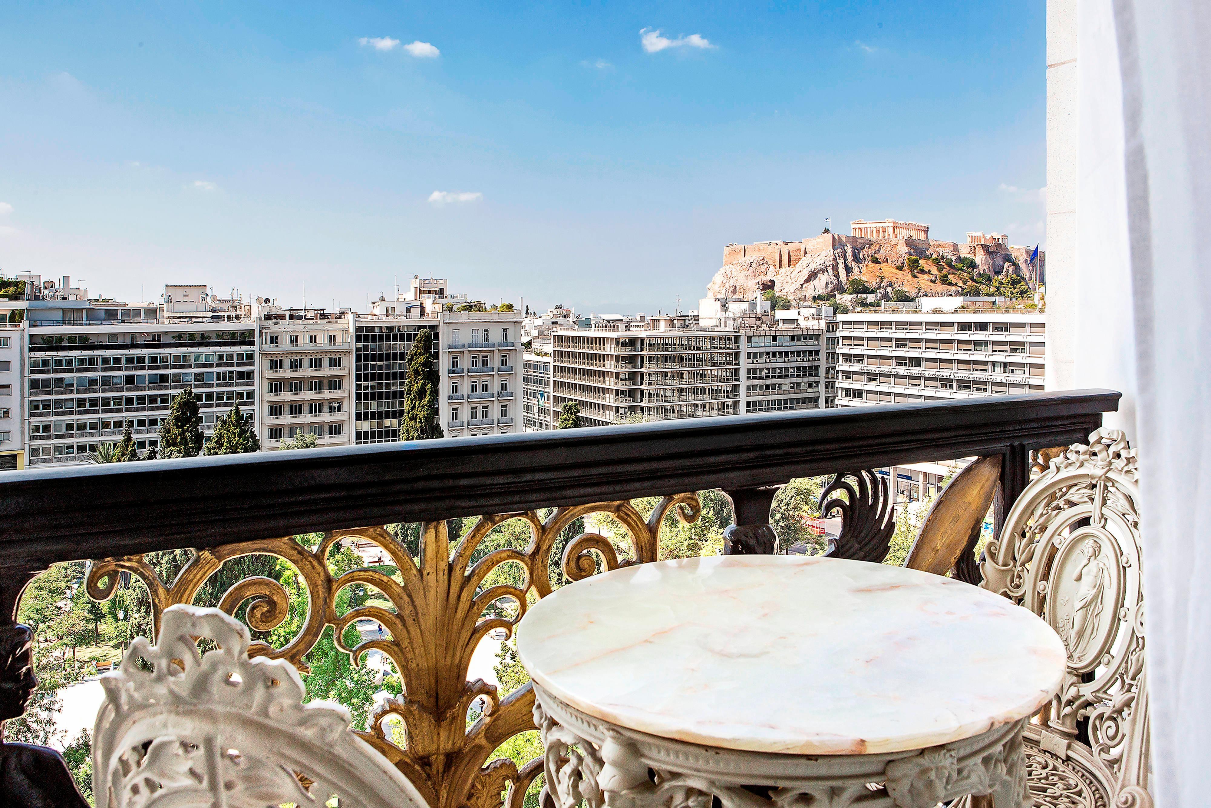 Royal Suite - Balcony Acropolis View