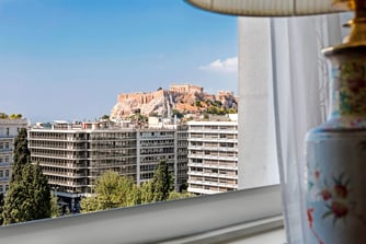 Royal Suite - Bedroom Acropolis View