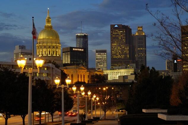 Georgia State Capitol in Atlanta Skyline