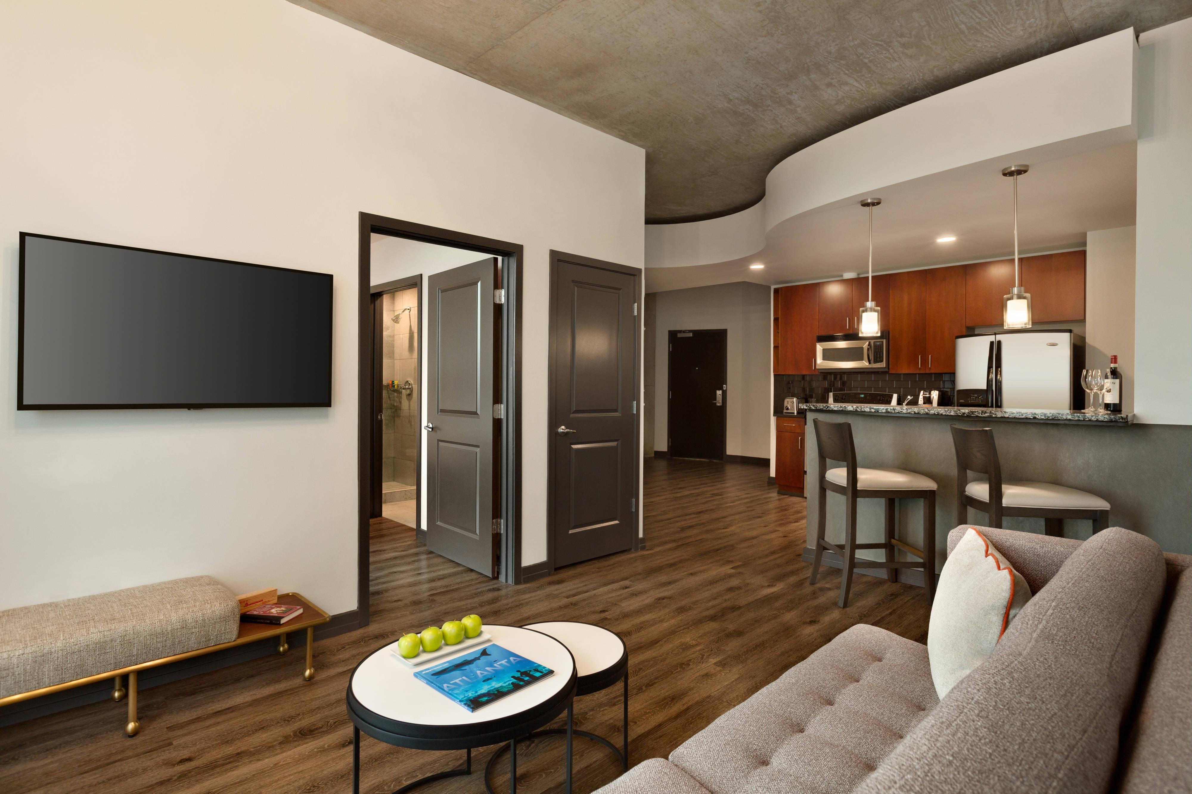 Corner Suite Living Area
