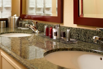 Lakeview and Hospitality Suite Bathroom