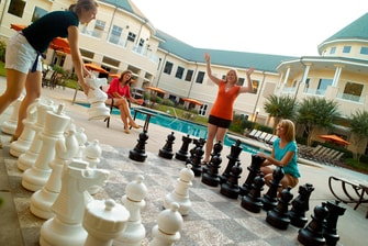 Outdoor Pool Chess