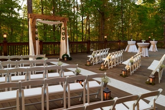 Lakeside Deck - Wedding Ceremony