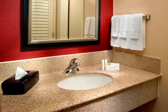 Guest Bathroom Vanity at Atlanta Courtyard