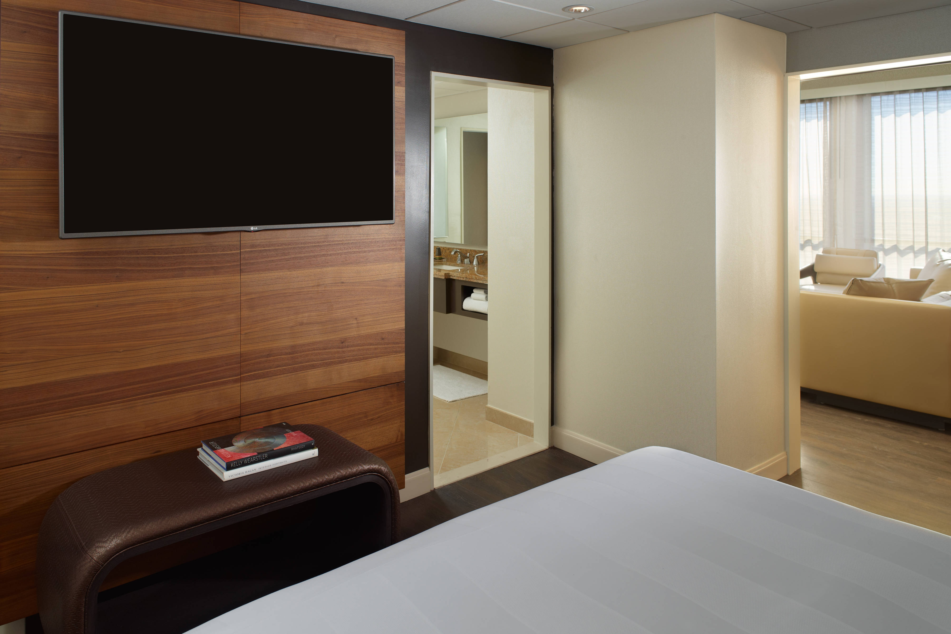 Executive Suite Sleeping Area with Television