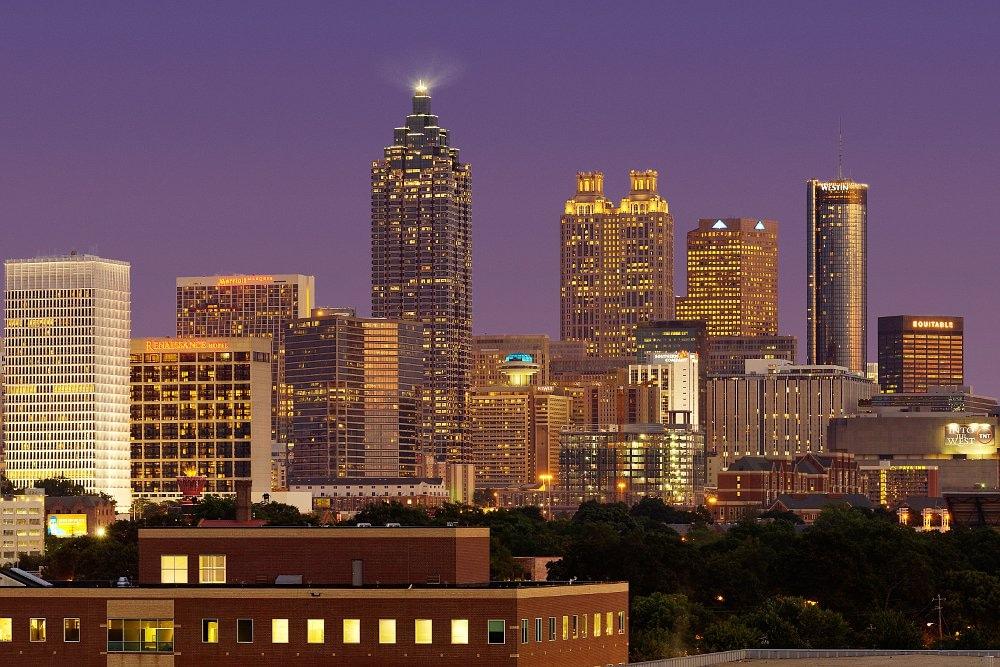 Horizonte del centro de Atlanta