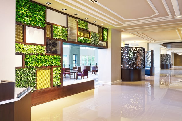 Vertical Garden in Entry Lobby